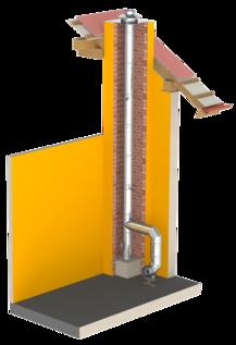 Einwandiger säurebeständiger Edelstahlschornstein / Edelstahlkamin für die Schornsteinsanierung oder als Verbindungsleitung einer Abgasanlage