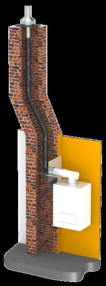 Ukázka konstrukce tlakotěsné jednovrstvé flexibilní spalinové cesty EW-PPS z polypropylenu