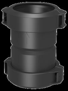 Systémový prvek tlakotěsné jednovrstvé spalinové flexibilní cesty EW-PPS z polypropylenu