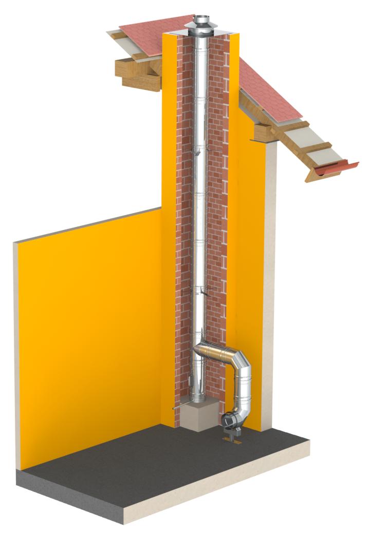 Jednoplášťový kyselinovzdorný komín